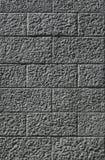 Muur die van grijze blokken wordt gebouwd Stock Fotografie