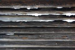 Muur die van logboeken wordt gemaakt Royalty-vrije Stock Afbeelding