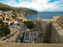 Muur in Dubrovnik Stock Foto