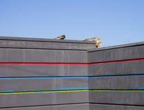 Muur en de architectuur van de stad, achtergrond Royalty-vrije Stock Foto's