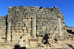 Muur en kolommen royalty-vrije stock foto