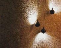 Muur en lampen Stock Foto