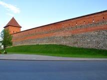 Muur en toren van Lida Castle wit-rusland Stock Afbeelding