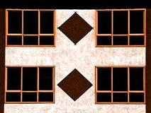 Muur en vensters Stock Afbeeldingen