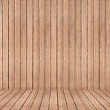 Muur en vloer die doorstane houten achtergrond, houten textuur opruimen Royalty-vrije Stock Foto