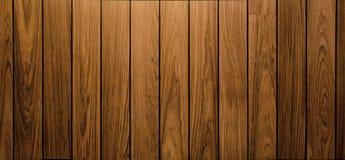 Muur en vloer die houten panoramaachtergrond opruimen Royalty-vrije Stock Fotografie