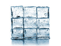 Muur gemaakte ââof ijsblokjes Stock Afbeelding
