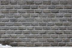 Muur grijze concrete blokken met druppels stock foto