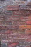 Muur in het Holkwart van Liverpool stock foto