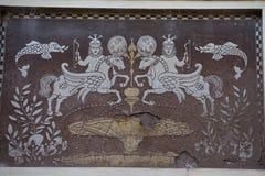 Muur het middeleeuwse schilderen Stock Foto