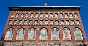 Muur II van de kerk stock fotografie