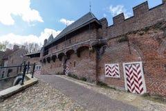 Muur Koppelpoort van de Amersfoort de Middeleeuwse stad en de Eem-rivier Royalty-vrije Stock Foto