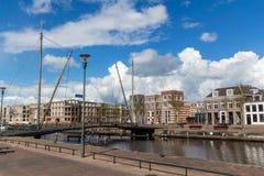 Muur Koppelpoort van de Amersfoort de Middeleeuwse stad en de Eem-rivier Royalty-vrije Stock Fotografie