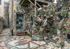 Muur in Magische Tuinen door Isaiah Zagar, Philadelphia Royalty-vrije Stock Afbeelding
