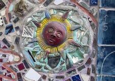 Muur in Magische Tuinen door Isaiah Zagar, Philadelphia Royalty-vrije Stock Fotografie