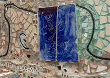 Muur in Magische Tuinen door Isaiah Zagar, Philadelphia Stock Afbeelding