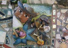 Muur in Magische Tuinen door Isaiah Zagar, Philadelphia Royalty-vrije Stock Afbeeldingen