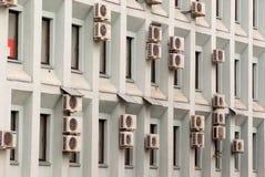 Muur met airconditioning Royalty-vrije Stock Afbeeldingen