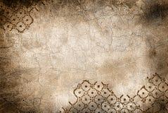 Muur met barsten en ruit vector illustratie