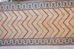 Muur met blauw tegelspatroon Royalty-vrije Stock Foto's