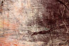 Muur met bruin en purper pleister Royalty-vrije Stock Foto's