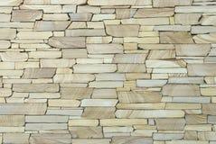 Muur met decoratieve steen wordt behandeld die Royalty-vrije Stock Foto