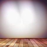 Muur met een vlekverlichting. EPS 10 Royalty-vrije Stock Afbeelding