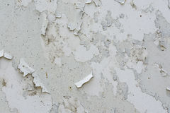 Muur met gebarsten verf wordt behandeld die Stock Afbeelding