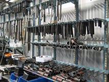 Muur met instrumenten Stock Afbeelding