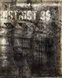 Muur met kogelgaten Stock Afbeeldingen