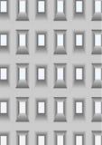 Muur met openingen voor vensters. royalty-vrije illustratie