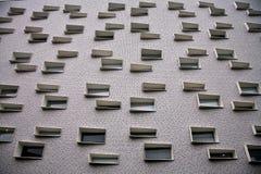 Muur met ramen. Stock Photography
