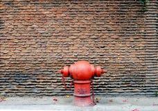 Muur met rode hydrant Royalty-vrije Stock Fotografie