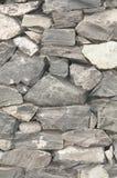 Muur met steentexturen in grijs Stock Foto