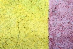 Muur met twee kleuren, decoratief pleister Stock Fotografie