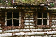 Muur met venster Stock Foto's