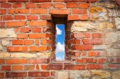 Muur met venster Stock Afbeelding