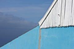 Muur op een huis Stock Foto
