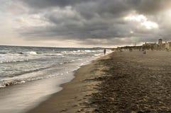 Muur op het strand Stock Fotografie