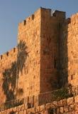 Muur in oud Jeruzalem Royalty-vrije Stock Afbeeldingen