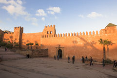 Muur in Rabat, Marocco Royalty-vrije Stock Foto's