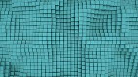 Muur van abstracte achtergrond van wintertalings 3D dozen Stock Afbeeldingen