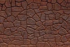 Muur van bakstenenkleur wordt gemaakt van roestig ijzer dat Royalty-vrije Stock Afbeeldingen