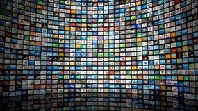 Muur van beelden Stock Fotografie