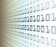 Muur van binaire code Stock Foto's