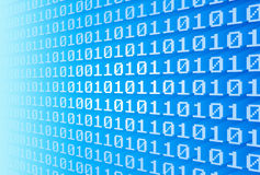 Muur van binaire code Stock Afbeelding