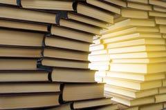 Muur van boeken Royalty-vrije Stock Afbeelding