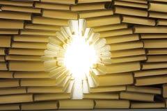 Muur van boeken Stock Foto's