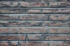 Muur van bruine bakstenen Abstracte textuur als achtergrond Stock Foto's