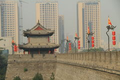 Muur van China Guardtower royalty-vrije stock afbeeldingen